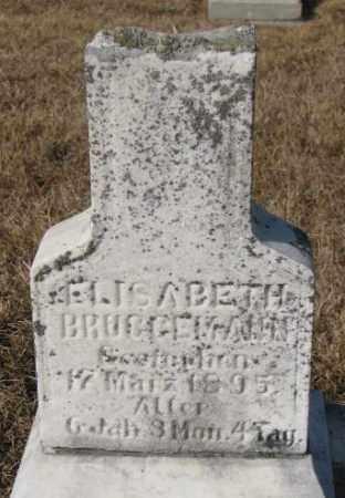 BRUGGEMANN, ELISABETH - Cedar County, Nebraska   ELISABETH BRUGGEMANN - Nebraska Gravestone Photos