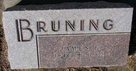 BRUNING, JAMES F. - Cedar County, Nebraska | JAMES F. BRUNING - Nebraska Gravestone Photos