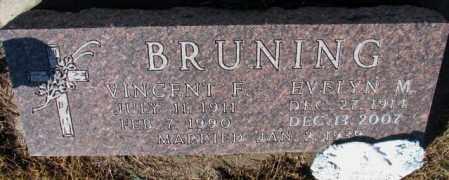 BRUNING, EVELYN M. - Cedar County, Nebraska | EVELYN M. BRUNING - Nebraska Gravestone Photos