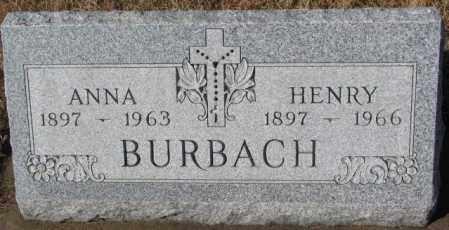 BURBACH, HENRY - Cedar County, Nebraska | HENRY BURBACH - Nebraska Gravestone Photos