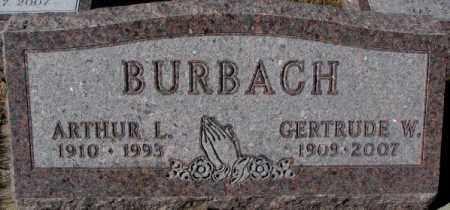 BURBACH, ARTHUR L. - Cedar County, Nebraska | ARTHUR L. BURBACH - Nebraska Gravestone Photos