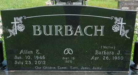 BURBACH, ALLEN E - Cedar County, Nebraska | ALLEN E BURBACH - Nebraska Gravestone Photos