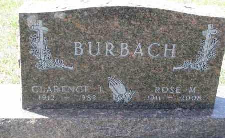 BURBACH, CLARENCE J. - Cedar County, Nebraska | CLARENCE J. BURBACH - Nebraska Gravestone Photos