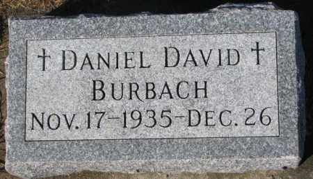 BURBACH, DANIEL DAVID - Cedar County, Nebraska   DANIEL DAVID BURBACH - Nebraska Gravestone Photos