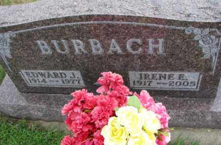 BURBACH, IRENE E. - Cedar County, Nebraska | IRENE E. BURBACH - Nebraska Gravestone Photos