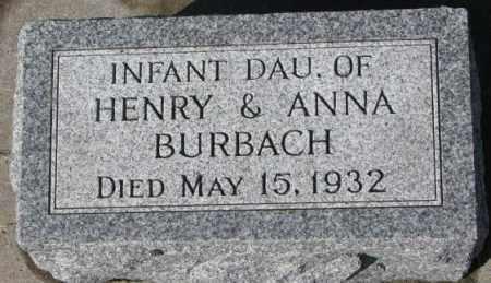 BURBACH, INFANT - Cedar County, Nebraska | INFANT BURBACH - Nebraska Gravestone Photos