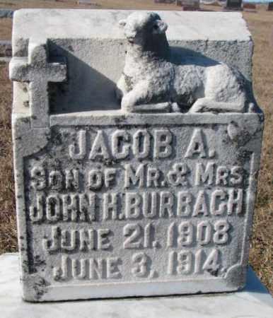 BURBACH, JACOB A. - Cedar County, Nebraska | JACOB A. BURBACH - Nebraska Gravestone Photos