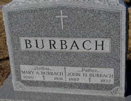 BURBACH, MARY A. - Cedar County, Nebraska | MARY A. BURBACH - Nebraska Gravestone Photos