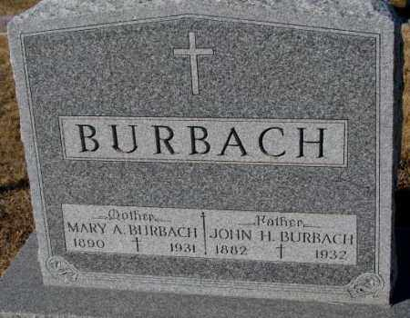 BURBACH, JOHN H. - Cedar County, Nebraska | JOHN H. BURBACH - Nebraska Gravestone Photos