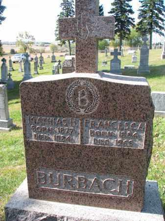 BURBACH, FRANCES C.A. - Cedar County, Nebraska | FRANCES C.A. BURBACH - Nebraska Gravestone Photos