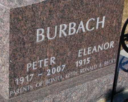BURBACH, PETER - Cedar County, Nebraska | PETER BURBACH - Nebraska Gravestone Photos