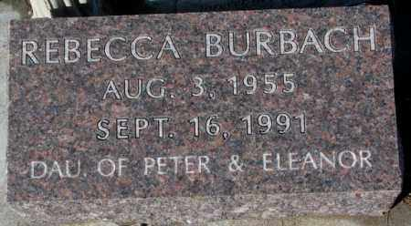BURBACH, REBECCA - Cedar County, Nebraska | REBECCA BURBACH - Nebraska Gravestone Photos