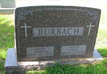 BURBACH, LOUIS - Cedar County, Nebraska   LOUIS BURBACH - Nebraska Gravestone Photos
