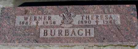BURBACH, THERESA - Cedar County, Nebraska | THERESA BURBACH - Nebraska Gravestone Photos