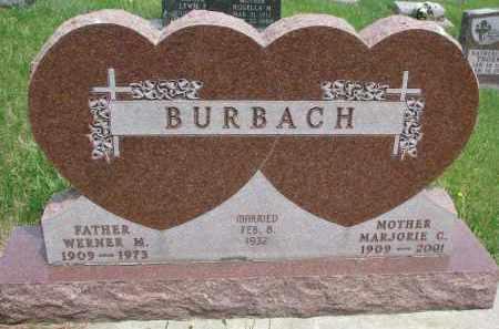 BURBACH, MARJORIE C. - Cedar County, Nebraska | MARJORIE C. BURBACH - Nebraska Gravestone Photos