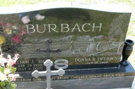 BURBACH, WILLIAM J. - Cedar County, Nebraska | WILLIAM J. BURBACH - Nebraska Gravestone Photos