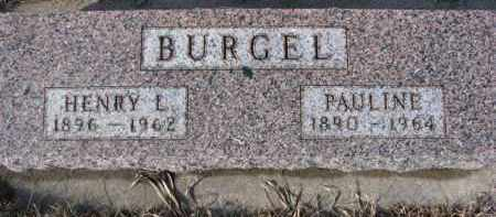 BURGEL, PAULINE - Cedar County, Nebraska | PAULINE BURGEL - Nebraska Gravestone Photos