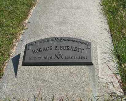 BURKETT, HORACE E. - Cedar County, Nebraska | HORACE E. BURKETT - Nebraska Gravestone Photos