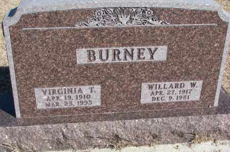 BURNEY, WILLARD W. - Cedar County, Nebraska | WILLARD W. BURNEY - Nebraska Gravestone Photos