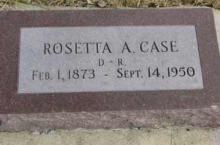 CASE, ROSETTA A. - Cedar County, Nebraska   ROSETTA A. CASE - Nebraska Gravestone Photos