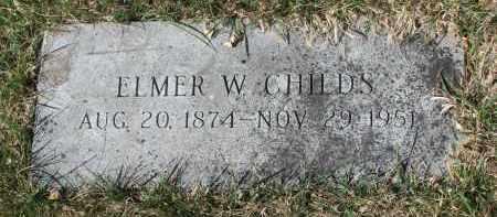 CHILDS, ELMER W. - Cedar County, Nebraska | ELMER W. CHILDS - Nebraska Gravestone Photos