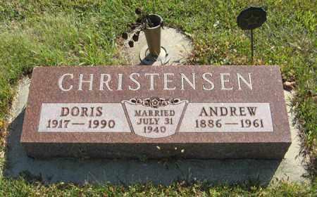CHRISTENSEN, ANDREW - Cedar County, Nebraska | ANDREW CHRISTENSEN - Nebraska Gravestone Photos