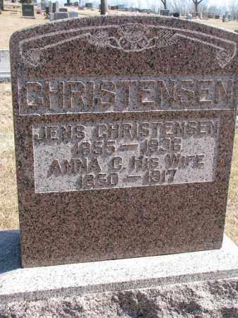 CHRISTENSEN, JENS - Cedar County, Nebraska | JENS CHRISTENSEN - Nebraska Gravestone Photos