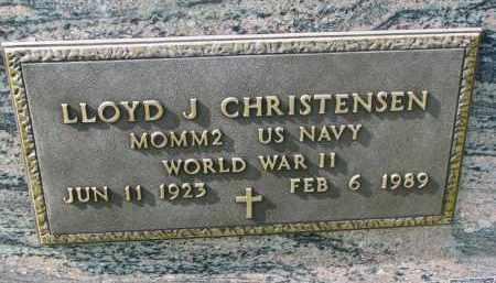 CHRISTENSEN, LLOYD J. (WW II) - Cedar County, Nebraska   LLOYD J. (WW II) CHRISTENSEN - Nebraska Gravestone Photos
