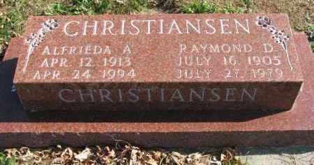CHRISTIANSEN, ALFRIEDA A. - Cedar County, Nebraska   ALFRIEDA A. CHRISTIANSEN - Nebraska Gravestone Photos