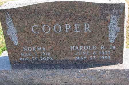 COOPER, HAROLD R. JR. - Cedar County, Nebraska | HAROLD R. JR. COOPER - Nebraska Gravestone Photos