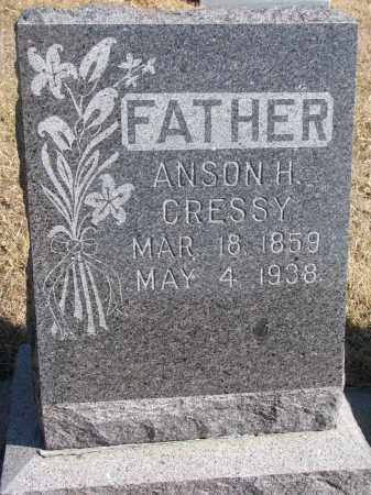 CRESSY, ANSON H. - Cedar County, Nebraska | ANSON H. CRESSY - Nebraska Gravestone Photos
