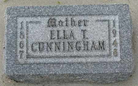 CUNNINGHAM, ELLA T. - Cedar County, Nebraska | ELLA T. CUNNINGHAM - Nebraska Gravestone Photos