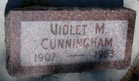 CUNNINGHAM, VIOLET M. - Cedar County, Nebraska   VIOLET M. CUNNINGHAM - Nebraska Gravestone Photos