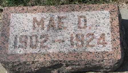 DALE, MAE D. - Cedar County, Nebraska | MAE D. DALE - Nebraska Gravestone Photos