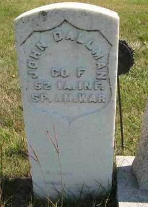 DALLMAN, JOHN (MILITARY MARKER) - Cedar County, Nebraska | JOHN (MILITARY MARKER) DALLMAN - Nebraska Gravestone Photos