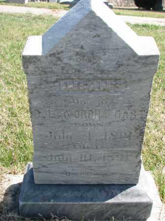 DART, INFANT DAUGHTER - Cedar County, Nebraska | INFANT DAUGHTER DART - Nebraska Gravestone Photos