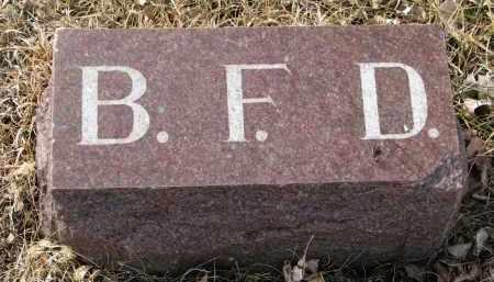 DAVIS, B.F. (FOOTSTONE) - Cedar County, Nebraska | B.F. (FOOTSTONE) DAVIS - Nebraska Gravestone Photos