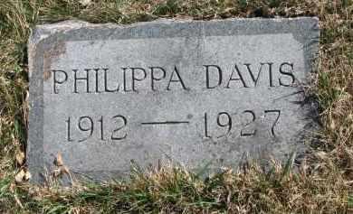 DAVIS, PHILIPPA - Cedar County, Nebraska | PHILIPPA DAVIS - Nebraska Gravestone Photos