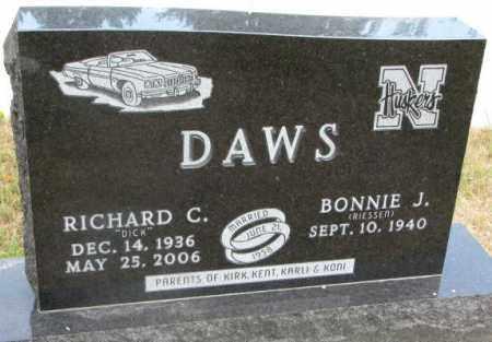 DAWS, RICHARD C. - Cedar County, Nebraska   RICHARD C. DAWS - Nebraska Gravestone Photos