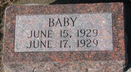 DENDINGER, BABY - Cedar County, Nebraska | BABY DENDINGER - Nebraska Gravestone Photos
