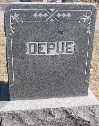 DEPUE, FAMILY STONE - Cedar County, Nebraska | FAMILY STONE DEPUE - Nebraska Gravestone Photos