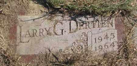 DERTIAN, LARRY G. - Cedar County, Nebraska | LARRY G. DERTIAN - Nebraska Gravestone Photos