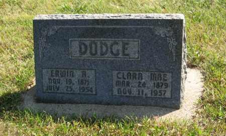 DODGE, ERWIN R. - Cedar County, Nebraska | ERWIN R. DODGE - Nebraska Gravestone Photos