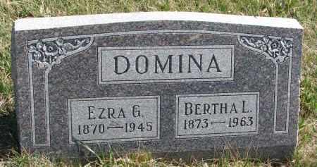 DOMINA, BERTHA L. - Cedar County, Nebraska | BERTHA L. DOMINA - Nebraska Gravestone Photos