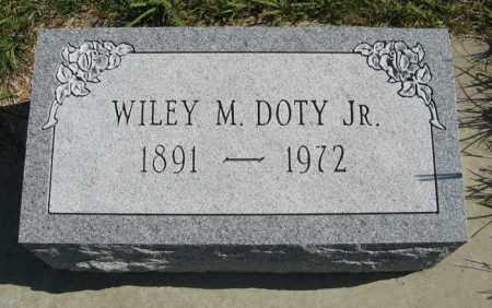 DOTY JR., WILEY M. - Cedar County, Nebraska | WILEY M. DOTY JR. - Nebraska Gravestone Photos