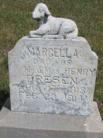 DRESEN, MARCELLA - Cedar County, Nebraska | MARCELLA DRESEN - Nebraska Gravestone Photos