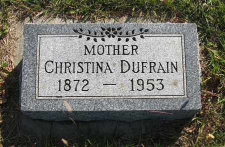 DUFRAIN, CHRISTINA - Cedar County, Nebraska   CHRISTINA DUFRAIN - Nebraska Gravestone Photos