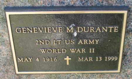 DURANTE, GENEVIEVE M. (WW II) - Cedar County, Nebraska   GENEVIEVE M. (WW II) DURANTE - Nebraska Gravestone Photos