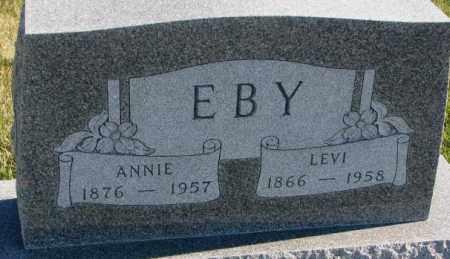 EBY, LEVI - Cedar County, Nebraska | LEVI EBY - Nebraska Gravestone Photos