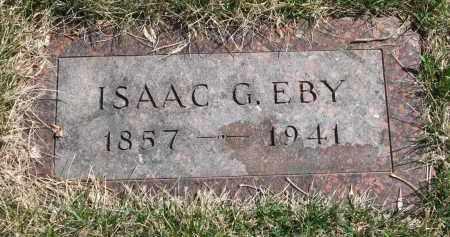EBY, ISAAC G. - Cedar County, Nebraska   ISAAC G. EBY - Nebraska Gravestone Photos